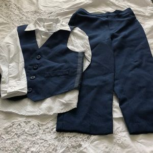 Navy 3 pc suit
